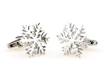 Snowflake Cuff Links