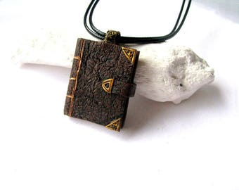 Book necklace, Book lovers gift, Book jewelry gift, Jewelry book gift, Mini book necklace, Necklace book gift, Vintage book gift