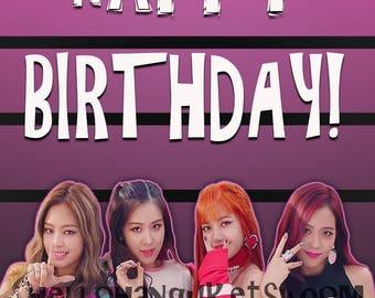 Blackpink Birthday card kpop hallyu Bigbang BTS