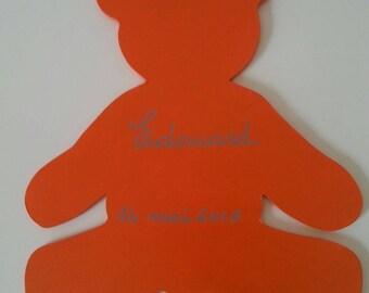 customizable bear small door plaque