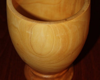 Hand turned Elm Chalice