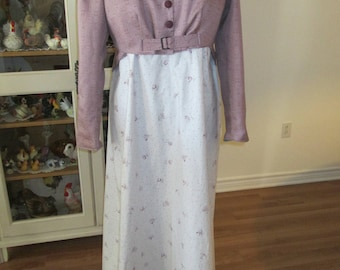 Jane Austen Period Women Dress, Sense & Sensibility Women Clothing (size 16) #NB-3
