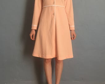 Vintage Pink and White Eleven or Suzy Bishop Mod Dress