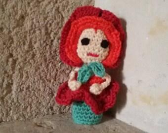 poppy finger puppet doll