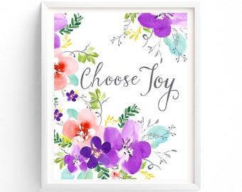 Choose Joy, Wall Art, Prints, Quote Prints, Printable, Art Prints, Printable Art, Instant Download Printable Art