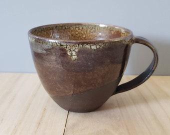 Gold Black Mug | Handmade Ceramic Mug