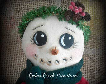 Primitive Folk Art Snowman