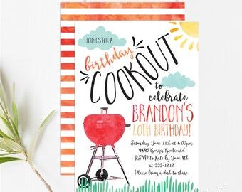 Cookout Invitations - BBQ Invitations - Grill Invitations