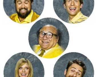 "It's Always Sunny 1"" Pinback Button Set of 5"