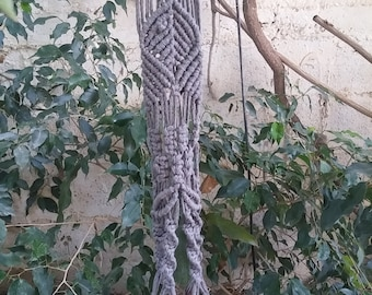 Macrame  Hanger, Boho Macrame Plant Hanger, Home Decor , Nature Cotton yarns, Vtg Holder Macrame Pot, Shabby Chic Vintage Macrame Plant.