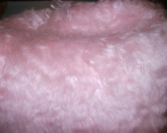 Handdyed Schulte Mohair Fabric Baby Pink 41mm  Pile  Fat 1/4 metre one of kind