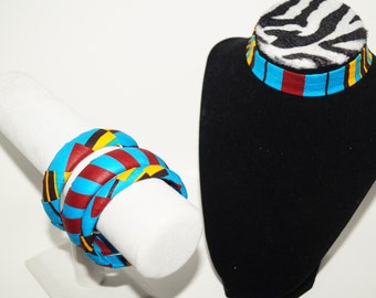 African print choker/ Gift for her/ Fabric covered necklace/ Shower gifts/ Statement Piece/ Bold Jewelry