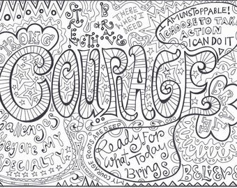 Serenity Prayer Coloring page download Adult coloring page