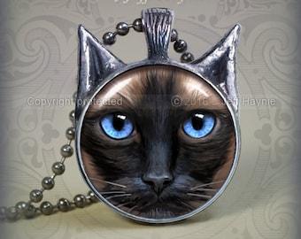 SI3 Sealpoint Siamese Cat pendant