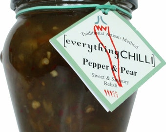 Pepper & Pear Relish with Chilli