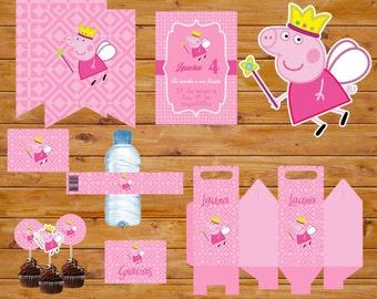 Peppa Pig/printable party kit Peppa Pig Printable Party Kit