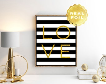 Love Quote Print - Love Art Print - Gold Quotes - Gold Quote Print - Love Quotes Wall Art - Love Quotes - Bedroom Wall Art - Wedding Gift