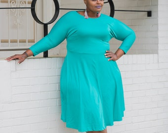Vintage Plus Size Swing Dress Vintage Dress