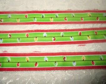 Christmas Ribbon, Christmas Trim, Snowflake Trim, Vintage Inspired Trim, Holiday Ribbon, Holiday Trim, Cotton Trim, Christmas Lights Trim