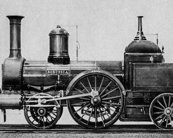 Locomotive Borussia, 1858. Germany, Berlin.