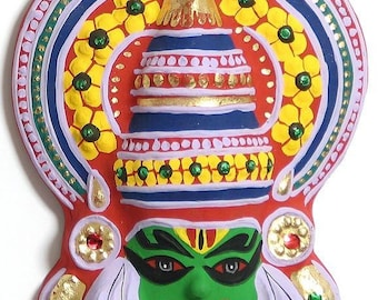 Wall hanging kathakali mask made in paper pulp