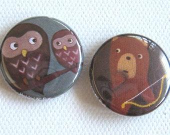 Bear Republic 1 inch buttons x 2