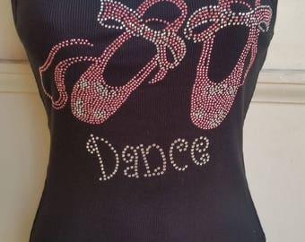 Ballet Shoes Crystals Tank Top