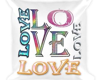 Christian Love , 18 x 18 throw pillow