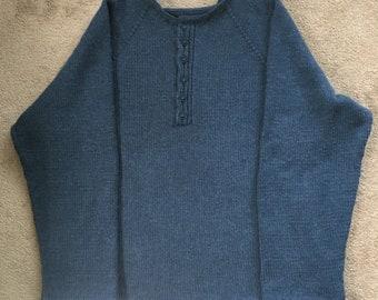 Henley Handknit Sweater - Extra Long