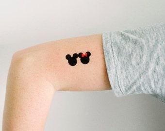 3 Mickey and Minnie Temporary Tattoos- GeekTat