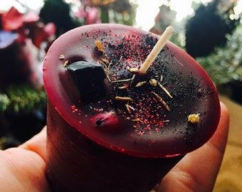 The Morrigan Votive Candle - Celtic Goddess of Magick, Prophesy