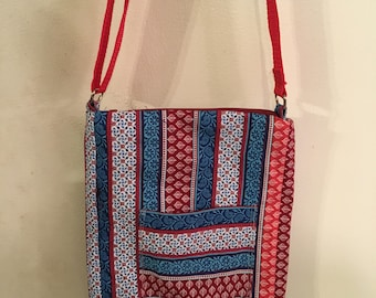 Red, White & Blue Stripe Purse