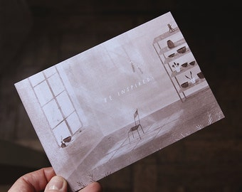 be inspired. postcard // postcard for everyone, especially for creative people.