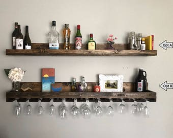 Charmant Bar Glass Storage | Etsy