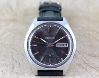 Vintage Gents Seiko Automatic Movement Watch 5 Actus circa 1970s