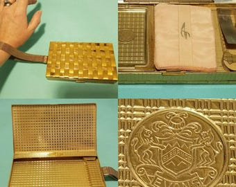 Beautiful, vintage 30's 40's, carryall, compact purse by Evans!