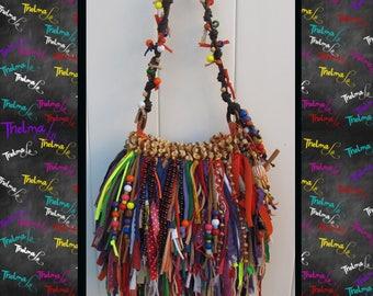 beaded fringe bag,fringe purse,handbag,custom made,unique,one of a kind,upcycled