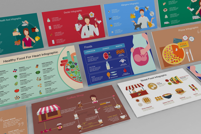 Mega Essen PowerPoint Infografik Set