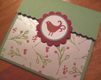 Christmas Holiday Gift card or money holder