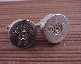 Shotgun Shell Cuff Links Winchester 12 Gauge Shotgun Shell Recycle Repurpose Upcycle