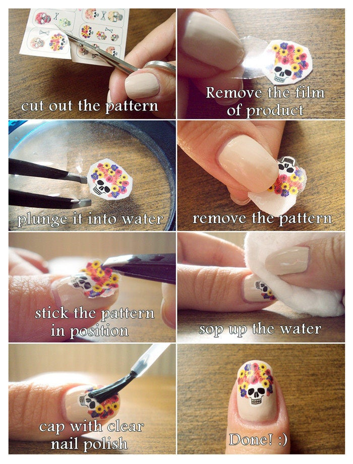 Fine Rose Nail Decals Gift - Nail Paint Design Ideas - nailsalonsnow ...
