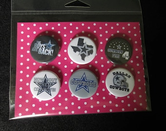 Dallas Cowboys Pin Back Buttons, Dallas Cowboys Magnets, Dallas Cowboys, Texas, Cowboys, Football, Pin Back Buttons, Magnets