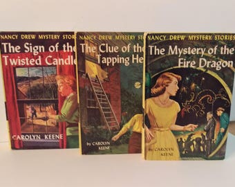 Nancy Drew #9,#16,#38, Illustrated Hardcover, Grosset and Dunlap, Published between 1962-1968