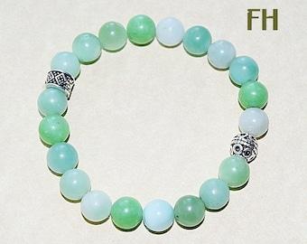 Amazonite, Green Amazonite, Amazonite Bracelet, Gemstone Bracelet, Women's Bracelet, Amazonite Jewelry, Beaded Bracelet, Yoga, Chakra, Zen