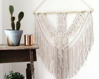 WOLFIE / Large Macramé Wall-hanging / Bohemian Macrame wall hanging /  Macrame / Boho home / Home Decor / Vintage style / Boho Wedding