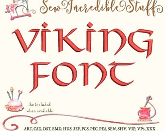 Viking or Celtic Machine Embrodery font