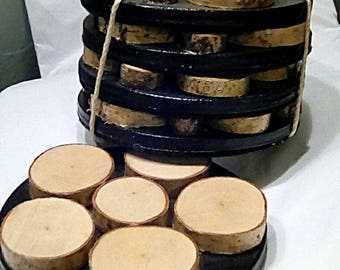 Birch Coasters - Set of 4
