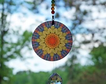 Chakra Mandala Suncatcher Zen Boho Sacred Geometry Hippie Kaleidoscope Meditation Unique Gift For Her Unique Gift For Him Exploding Energy