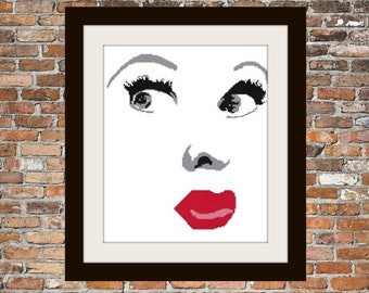 Lucille Ball - a Counted Cross Stitch Pattern