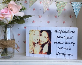 Personalised Friend Gift, Best Friend Birthday Gift, Best Friend Gift, Personalised Friend Frame, Friendship Gift, Wooden Photo Frame